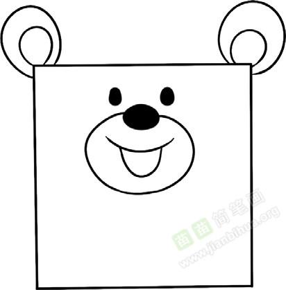 小熊简笔画图片教程