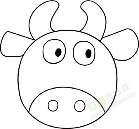 牛简笔画图片教程 一
