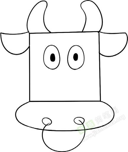 公牛简笔画图片教程