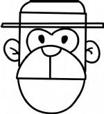 猴子简笔画图片教程(一)