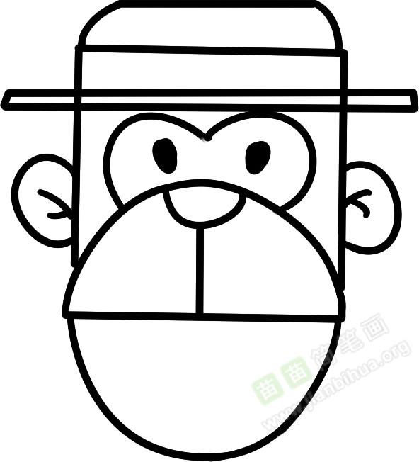 猴子简笔画图片教程 一