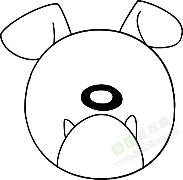 牛头犬简笔画图片教程