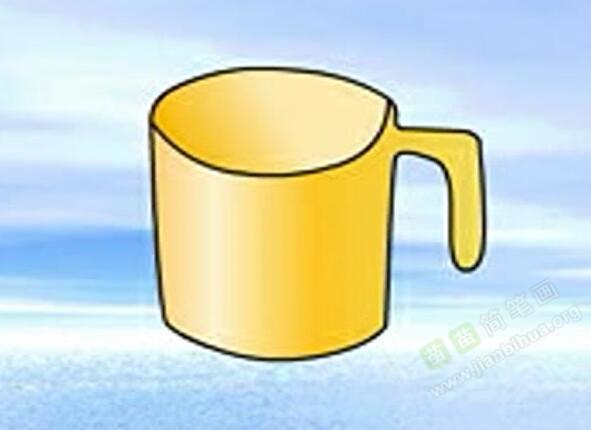 杯子简笔画 杯子怎么画简笔画视频教程