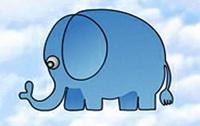 大象简笔画_大象怎么画简笔画视频教程