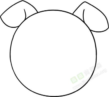 小猪简笔画图片教程(一)