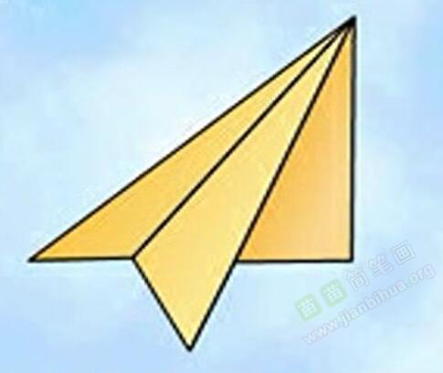 纸飞机简笔画 纸飞机怎么画简笔画视频教程