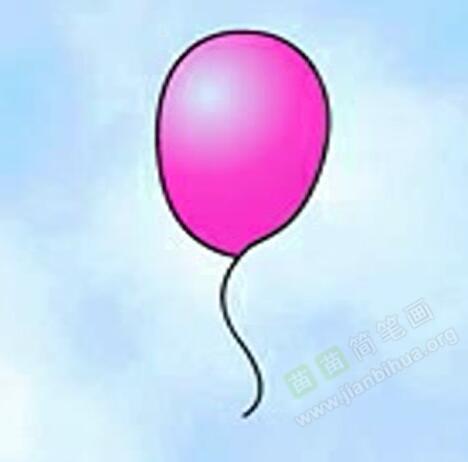 气球简笔画 气球怎么画简笔画视频教程
