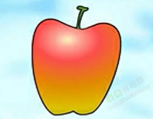 苹果简笔画 苹果怎么画简笔画视频教程