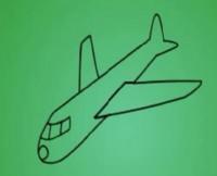 飞机简笔画_飞机怎么画简笔画视频教程