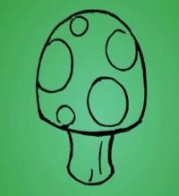 蘑菇简笔画_蘑菇怎么画简笔画视频教程