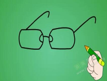 眼镜简笔画 眼镜怎么画简笔画视频教程