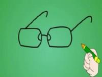 眼镜简笔画_眼镜怎么画简笔画视频教程