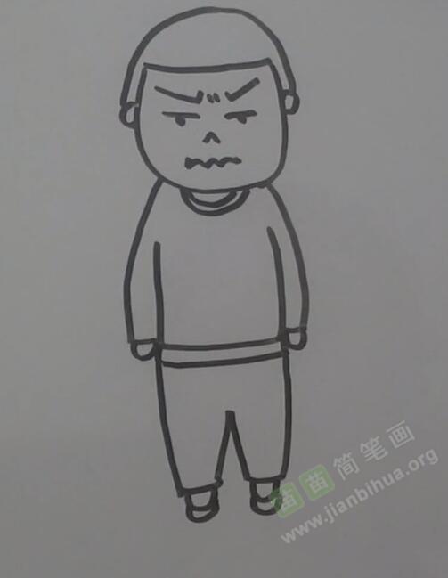 男孩简笔画