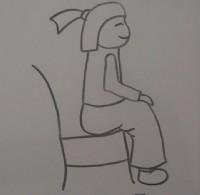 人物坐的姿势简笔画视频教程