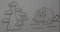 树和鲸鱼简笔画视频教程
