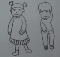 小女孩、小男孩简笔画视频教程