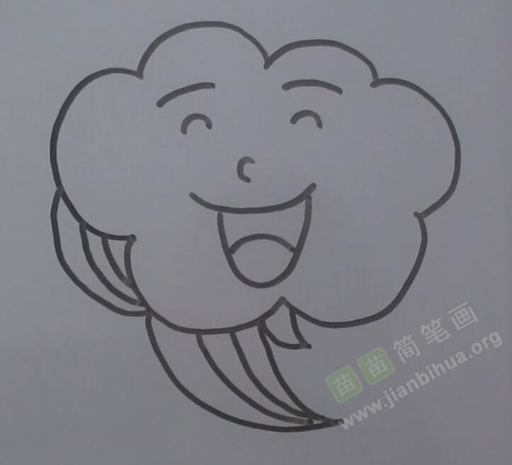 云朵简笔画 云朵怎么画简笔画视频教程