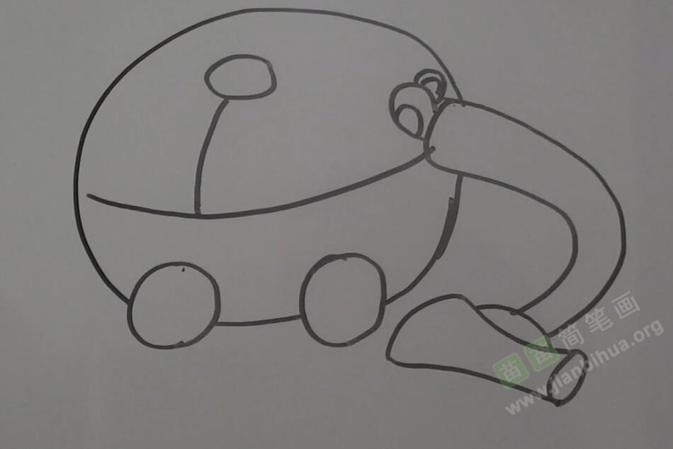拟人画吸尘器简笔画