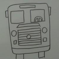 正视图画公交车简笔画视频教程