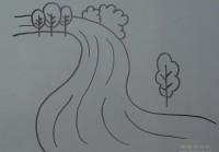 之字构图画河流景物简笔画视频教程