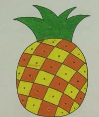 菠萝简笔画教程_菠萝怎么画视频教程