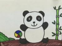 大熊猫简笔画_大熊猫怎么画简笔画视频教程