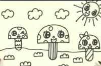 蘑菇简笔画教程_蘑菇怎么画视频教程