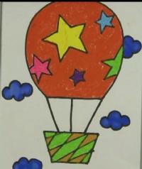 热气球简笔画_热气球怎么画简笔画视频教程