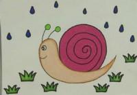 蜗牛简笔画_蜗牛怎么画简笔画视频教程