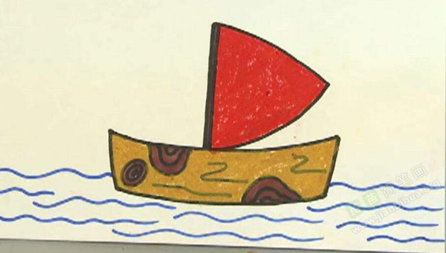 小帆船简笔画