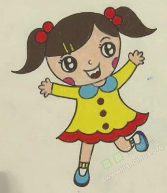 小女生简笔画