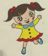 小女生简笔画_小女生怎么画简笔画视频教程