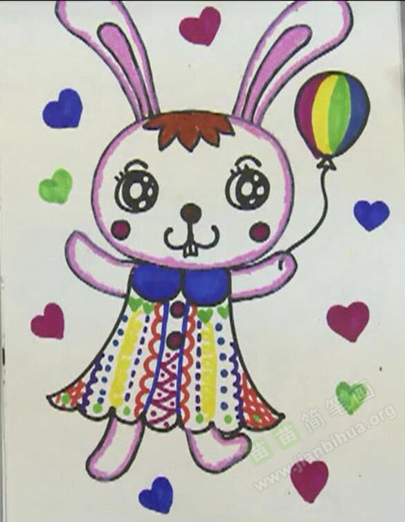 小兔子简笔画 小兔子怎么画简笔画视频教程