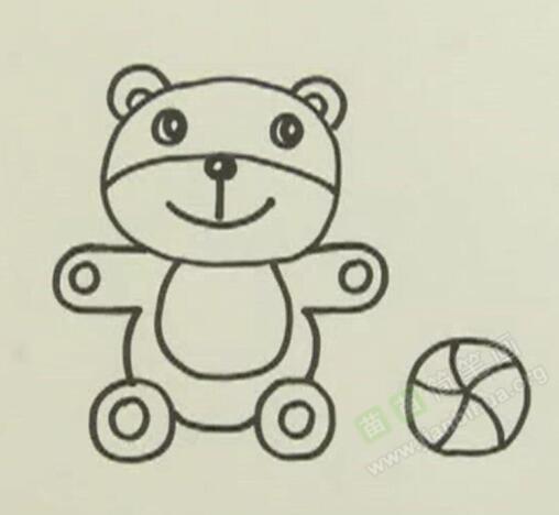 小熊简笔画教程 小熊怎么画视频教程