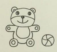 小熊简笔画教程_小熊怎么画视频教程