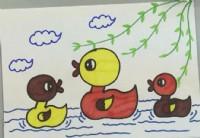 小鸭子简笔画教程_小鸭子怎么画视频教程
