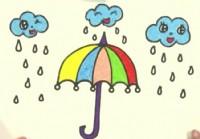 雨伞简笔画_雨伞怎么画简笔画视频教程