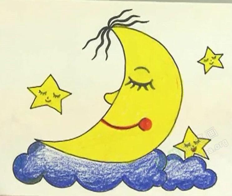 月亮和星星简笔画