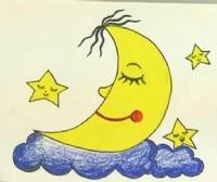 月亮和星星简笔画_月亮和星星怎么画简笔画视频教