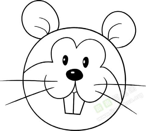趣味简笔画 机敏的松鼠绘画步骤 4 儿童画教程 学画画 我爱画画网 一个