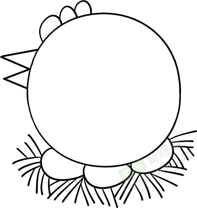 第四步,在圆形里面画出母鸡的眼睛和翅膀和鸡尾巴;好,一只母鸡在孵鸡蛋的简笔画就画好了! 鸡的小知识: 小朋友,你知道鸡是12生肖中的一属吗?除了家禽中的家鸡,鸡还有其他种类哦!它们分别是火鸡、乌鸡、野鸡等。。。你记住了吗? 苗苗 简 笔画为 你 提 供母鸡简笔画图片教程