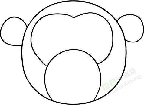 猴子简笔画图片教程 二