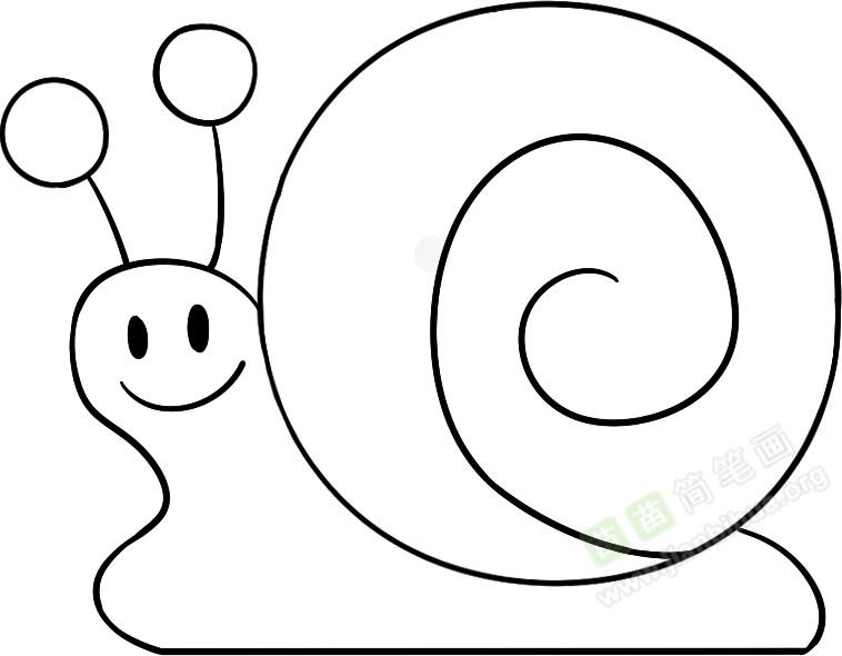 蜗牛简笔画图片教程 一
