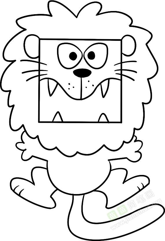 大狮子简笔画图片教程