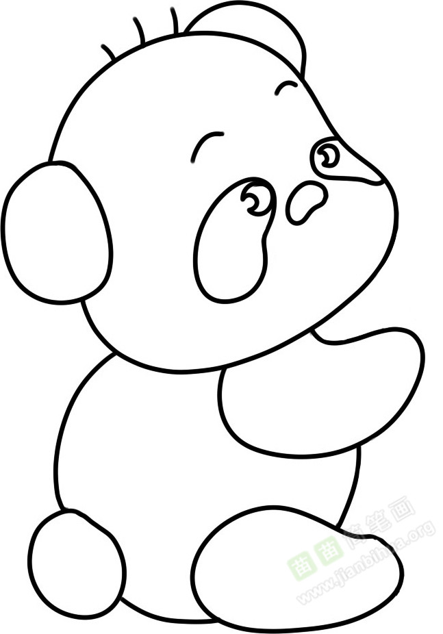 熊猫简笔画图片教程 一