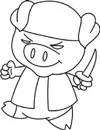 小猪简笔画图片教程(三)