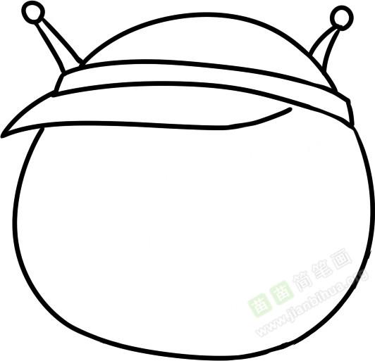 蚕宝宝简笔画图片教程
