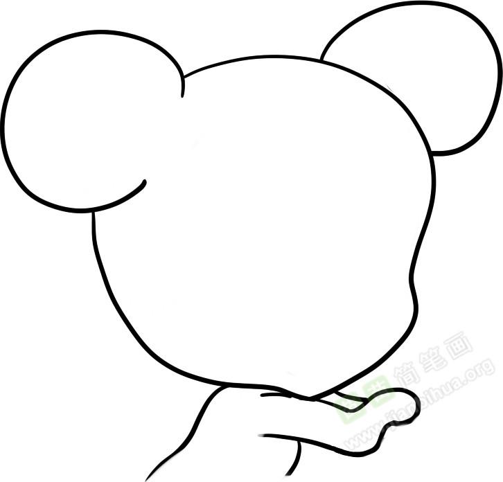 小老鼠简笔画图片教程 一
