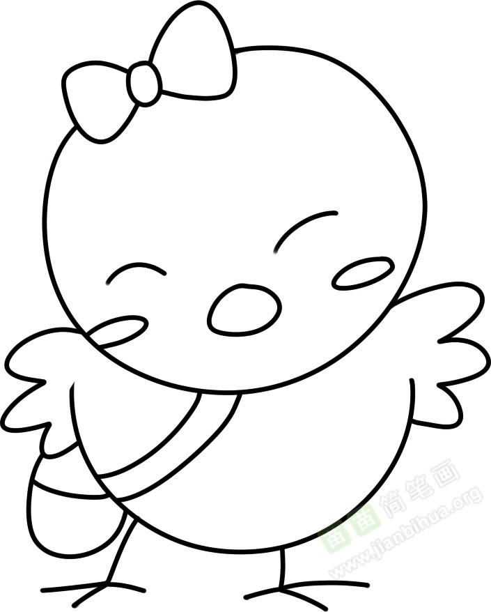 鸡宝宝简笔画图片教程