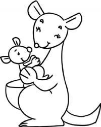袋鼠简笔画图片教程(一)